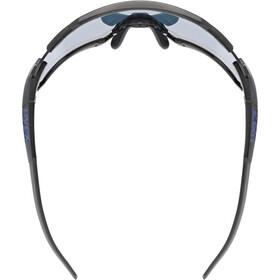 UVEX Sportstyle 228 Glasses black matt/mirror blue
